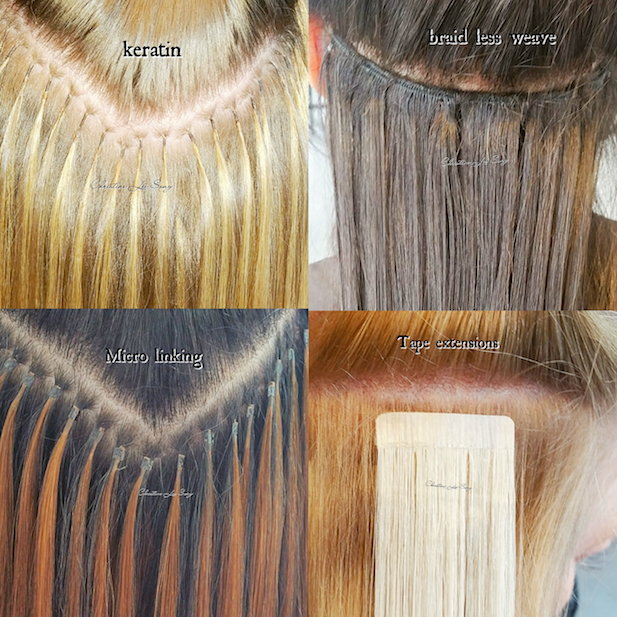 Different methods of Hair Extensions